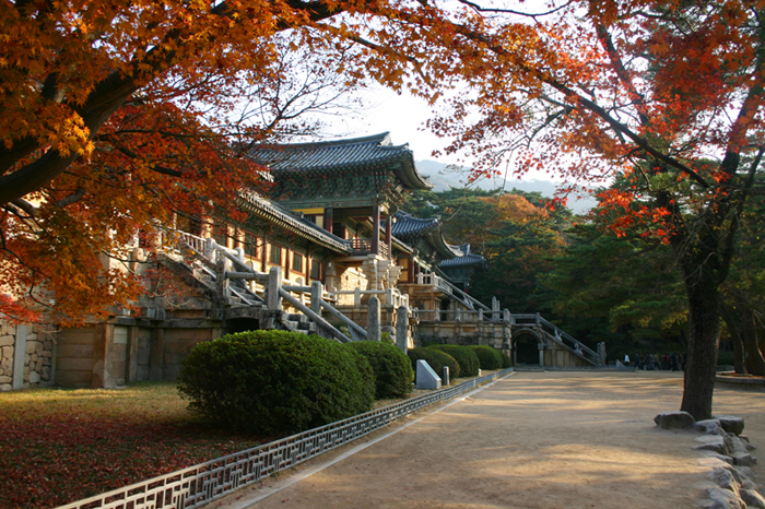 The Front view of Bulguksa Temple