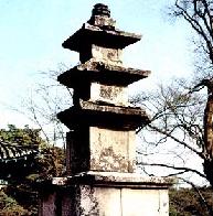 Sudeoksa Temple Samcheungseoktap(Three storied stone pagoda in Sudeoksa Temple)